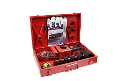 Vetrineinrete® Polifusore saldatore per tubi in polipropilene 2300 watt salda tubi con 6 matrici varie misure e accessori utensili fai da te P35