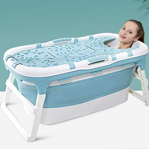 GLokpp Adulto bañera Plegable plástico del bebé Piscina for los niños Baño Barril Hogar Grande portátil de hidromasaje, Bañera portátil hogar de Materiales plásticos SPA Baño Cubo Anti-Desliza