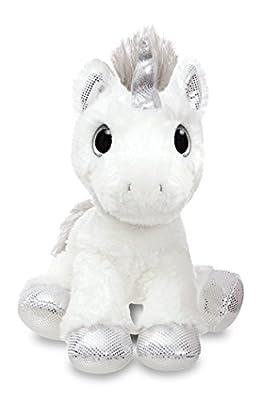 Aurora- Peluches y muñecas, Color blanco y plateado, 31cm (60855)