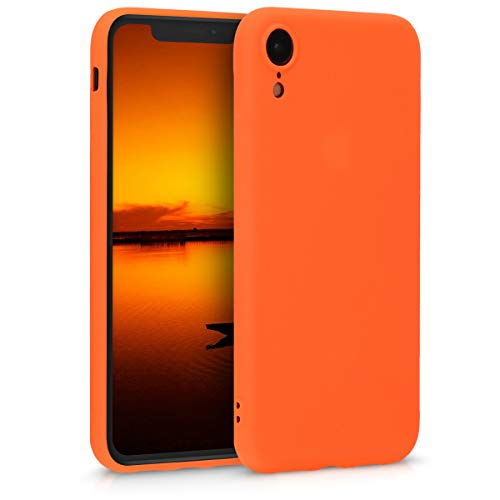 kwmobile Hülle kompatibel mit Apple iPhone XR - Handyhülle - Handy Hülle in Neon Orange