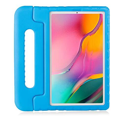 Brand.it Learn.it - Funda para iPad para niños, con certificado TÜV GS, resistente a los golpes y robusta, de espuma, ideal para la escuela y las clases, apta para Galaxy Tab A10.1 (2019), color azul