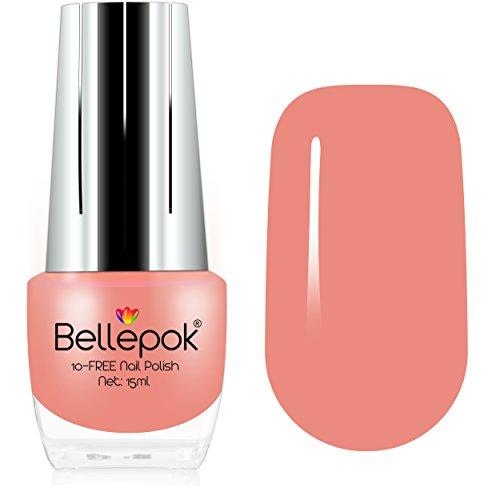 Esmalte de uñas natural, formulación ecológica 10-Free, color albaricoque