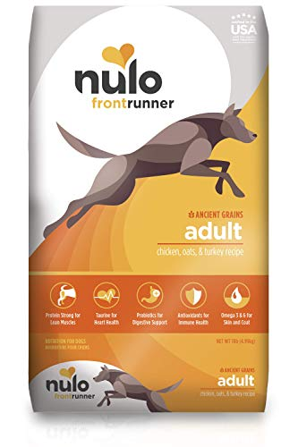 Nulo Frontrunner Dry Dog Food for Adult Dogs - Grain Inclusive Recipe with Chicken, Oats, and Turkey - All Natural Pet Foods with High Taurine Levels - Animal Protein for Lean Strong Muscles