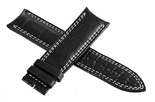 Jaeger LeCoultre para hombre negro gris cuero reloj banda 22mm x 20mm