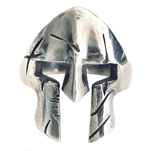 Helen de Lete Casco Sparta Guerriero originale da uomo, in argento Sterling 925, regolabile