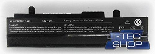 LI-TECH Kompatibler Akku 5200 mAh schwarz für ASUS EEEPC EEE PC EEPC 1015PN-PU27 6 Zellen
