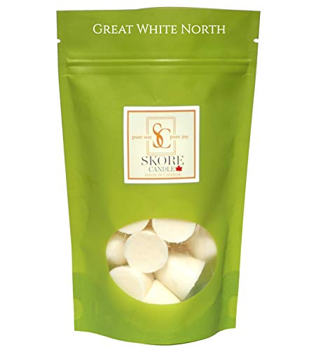 GREAT WHITE NORTH Soy Wax Melt Dots-In Rice Paper Pouches Reducing Plastic Waste-21 Essential oil/fragrance infused Scented Dots -For Home, Spa-Use in any Melt, Cube or Tart Warmer 7oz