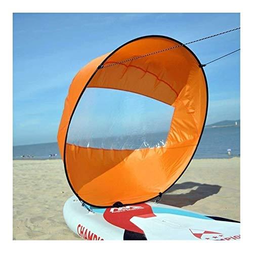 IGOSAIT Agradable Kayak Plegable del Viento Vela Paddle Board 108cm Vela Canoas Barcos palada de Remo Ventana Clara Barco Accesorios Marinos Cómodo (Color : Orange 2)