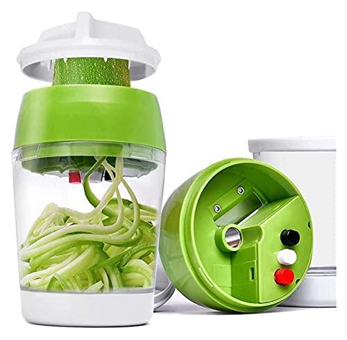 cortadora de verduras 5 IN1 Handheld Spiralizer Vegetal Slicer Cortador de espiral...