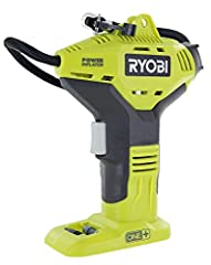 NEW AND IMPROVED! ONE+ COMPATIBLE! This tool runs on the power sources used in Ryobi's ONE+ battery system, making this purchase extra smart for the Ryobi veteran PORTABLE PISTOL PUMPING POWER: Ryobi's P737D is smaller than most inflators, boasting a...