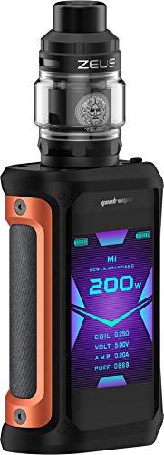 Aegis X mit Zeus Subohm E-Zigaretten Set - Zeus Subohm-Verdampfer - 5ml - max. 200 Watt - von GeekVape - Farbe: orange-schwarz
