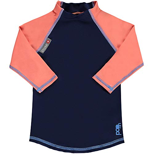 Pop-in Rash Vest met lange mouwen 3XL Navy/Koraal