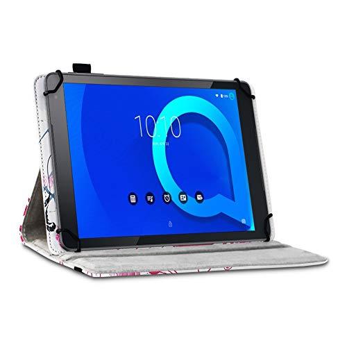 Tablet Hülle kompatibel für Alcatel 1T 10 Tasche Schutzhülle Case Schutz Cover 360° Drehbar 10.1 Zoll Etui, Farbe:Motiv 7