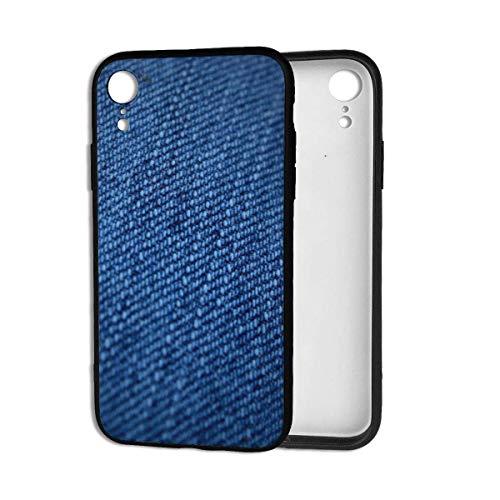 Stanley Gissing Carcasa para iPhone XR con diseño de calavera y huesos antiarañazos, a prueba de golpes, parte trasera de policarbonato duro suave de TPU para iPhone XR de 6.1 pulgadas, BlueJeans-