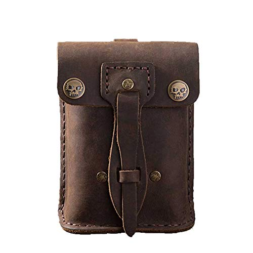 Mubolin Bolsa de cinturón de cinturón de cinturón de cinturón de la Vendimia Paquete de Fanny con Bucle de cinturón Monedero de cráneo