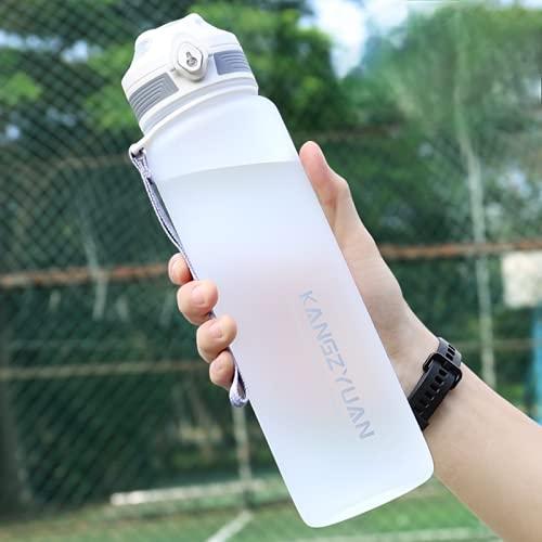 大容量ボトル 水筒 ポータブルストロースポーツウォーターボトル350 500 650 700 1000 1500 2200ml BPAフリー プラスチックウォーターボトル 自転車 大人 子ども アウトドア スポーツ 登山用/キャンプ/ランニング/ジム/ (500ml,White)