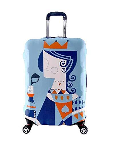 Kenebo Elastische Staubdichte Gepäck Abdeckung Königskönigin Haifisch Baumwolldruck Koffer Schutz Abdeckung Medium Königin 28-31 inch