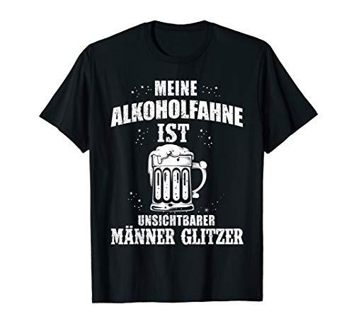 Bier Alkohol Fahne Unsichtbarer Männer Glitzer Lustiges T-Shirt