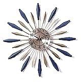 HongLianRiven Reloj de Pared Números de Metal Redondo Números Reloj de Pared Sin tictac Reloj de Pared de Cuarzo silencioso 3D Detalle de la Oficina de la Oficina del hogar Decoraciones para el hogar