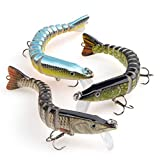 Bass Swimbaits,Lifelike Multi-Jointed Swimbaits, Fishing Lures for Bass, Walleye, Trout,Perch,Slow Sinking Bionic Swimming Lure Freshwater Saltwater, Hard Bait for Bass,Fishing Gifts for Men