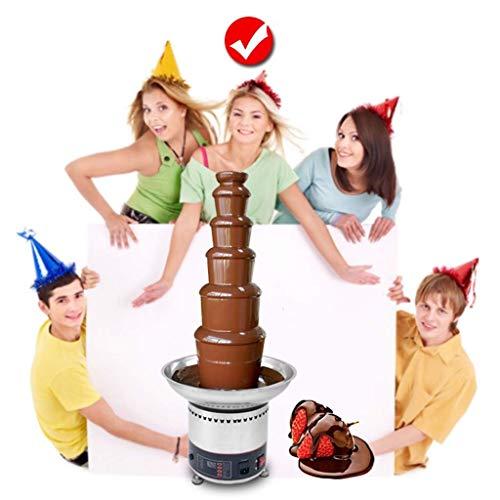 41ZFxi2yBKL - TYUIO Handelsschokoladen-Brunnen 6 Tiers Edelstahl Auto Temperaturregelung 0-150 ° for Feiern
