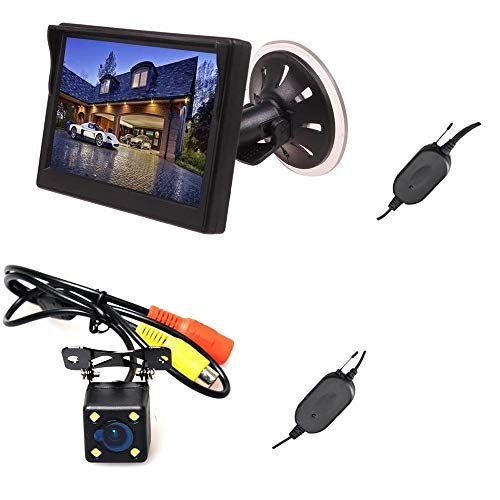E-KYLIN Wireless Car Auto 5 inch HD Monitor LCD TFT + Backup Camera Reverse Parking Kit LED Night Vision CCTV Safety Surveillance