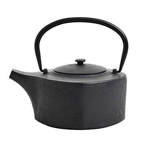 Teekanne aus Gusseisen, schwarz, 1250 ml