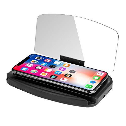Universal HUD Head-Up Display GPS Navigation Frame Windscreen Projector Phone Holder