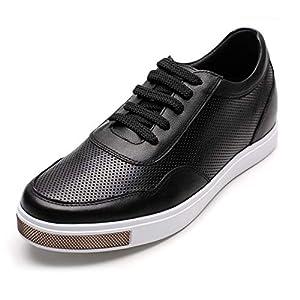 CHAMARIPA Zapatos con Alzas Hombre de Cuero - 6CM Aumentar la Altura - Zapatilla de Deporte Casual con Cordones