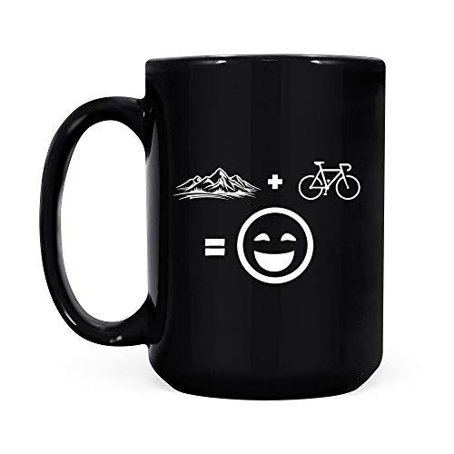 Mountain Bike Black Coffee Mug
