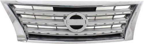 CPP Chrome Ranking TOP10 Max 68% OFF w Silver Insert Grille 2013-2015 - for Nissan Sentra