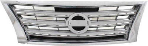 CPP Chrome w/ Silver Insert Grille for 2013-2015 Nissan Sentra - NI1200252