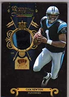 2011 Crown Royale Rookie Royalty Materials Prime #27 Cam Newton Game-Worn Jersey Card Serial #'d/50
