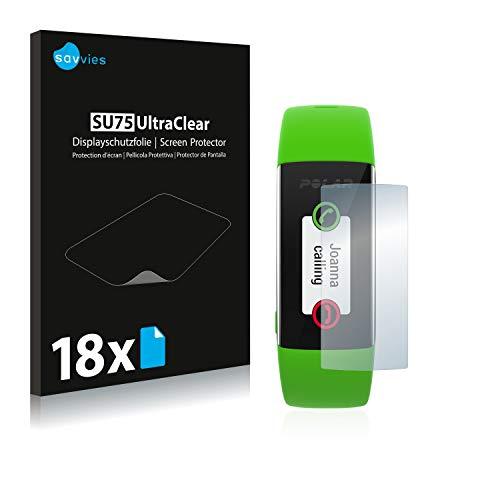 Savvies 18x Schutzfolie kompatibel mit Polar A360 Bildschirmschutz-Folie Ultra-transparent
