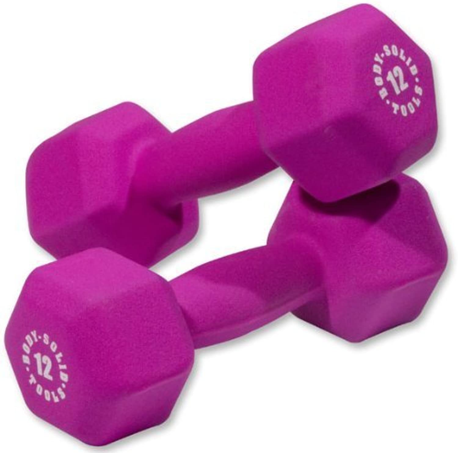 BodySolid Neoprene Dumbbells  12 lb. Pair by Ironcompany