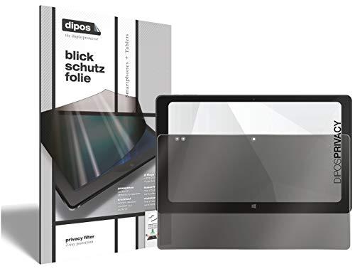 dipos I 2-Wege Blickschutzfolie kompatibel mit TrekStor SurfTab Twin 11.6 (Im Querformat) I Sichtschutz-Folie Bildschirm-Schutzfolie Privacy-Screen - Schützt gegen seitliche Blicke