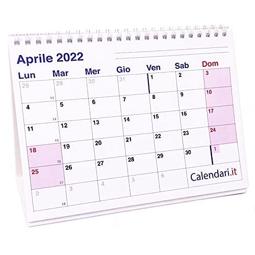 Calendario 2022 a caselle cm 20x15 da tavolo per ufficio casa e lavoro (16 FACCIATE)