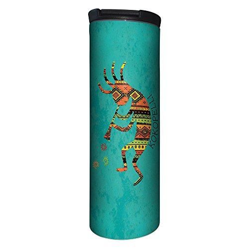 Tree-Free Greetings Barista Tumbler Vacuum Insulated, Stainless Steel Travel Coffee Mug/Cup, 17 Ounce, Vibrant Kokopelli