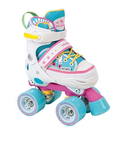 HUDORA Rollschuhe Kinder Mädchen Skate Wonders - verstellbar, Roller-Skates, Disco-Roller, Gr. 28-31, 22036