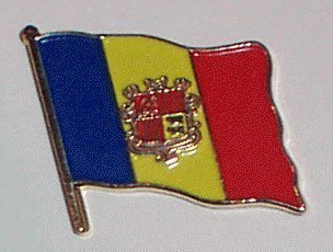 MadAboutFlags Pin/Badge Flagge Fahne Andorra