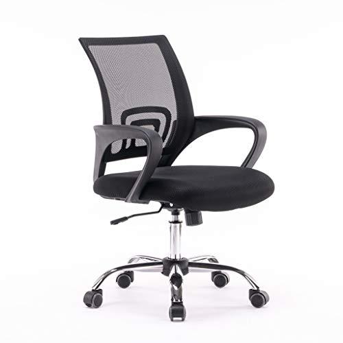 JLSun Loywe Bürostuhl Schreibtischstuhl Office Chair Ergonomisch Drehstuhl Chefsessel Mesh Höhenverstellbar Belastbar bis 100KG Schwarz, LWB011-SS