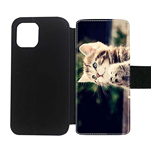 Niña Fascinante Compatible para Apple 6.7 Inch iPhone 12 Pro MAX Impresión Cat Clipart Cartoon 2 Caja De Plástico Duro del Teléfono
