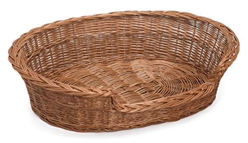 Prestige Wicker Dog Bed Basket, 65 cm