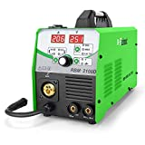 Reboot MIG Welder Flux Core Wire Automatic Feed 110V/220V Digital MIG210 Lift Tig Arc Stick Mig Welding Machine Solid Wire Gas/Gasless Supports 2lbs/10lbs Wire