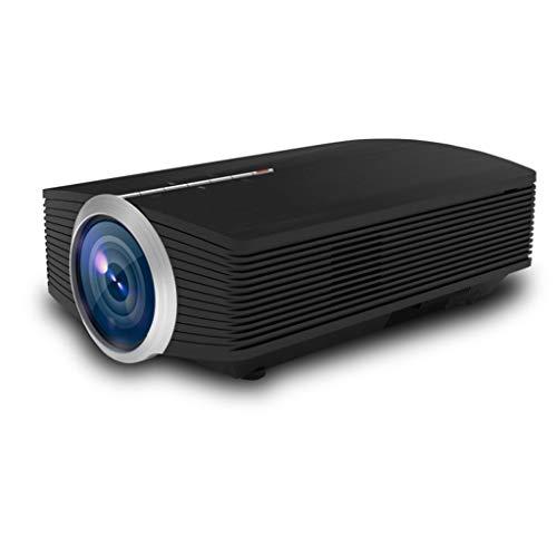 Proyector Mini proyector de vídeo proyector LED al aire libre del proyector de película de cine en casa proyector 1080P compatibles proyector compatible con TV Stick, PS4, HDMI, VGA, AV y USB Mini pro