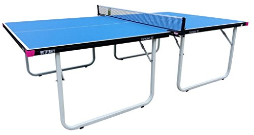 Butterfly Compact 19 Table Tennis Table with Net Set - Fully Assembled - 3 Year Warranty - Compact Storage