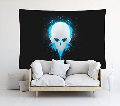 MYLZZ Tapiz de pared con diseño de cráneo luminoso, para decoración del hogar, para la playa, para el salón, dormitorio (estilo 1,150 cm x 230 cm)