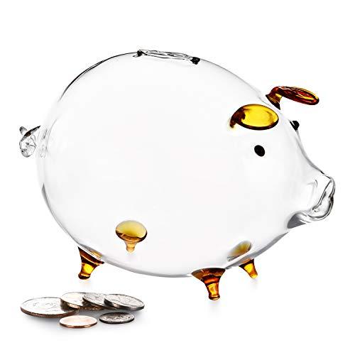 Erreloda Piggy Bank Transparent Creative Glass Coin Bank...