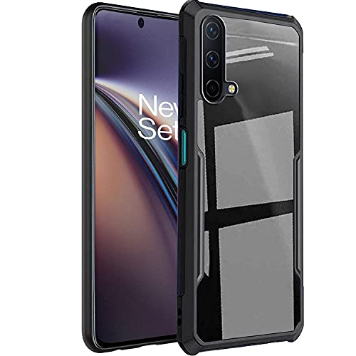 Crombie Bumper Crystal Clear Case Cover Compatible for OnePlus Nord CE 5G (Black)
