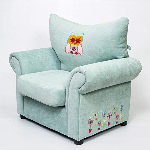 WENYC kindersofa cartoon leuk patroon stoel groen stof kleuterschool zitstoel thuis kinderstoel stoel groen